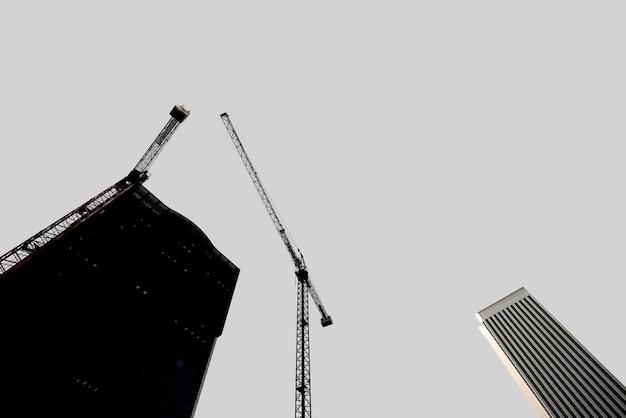 Silhouette de l'architecture moderne.