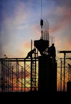 Silhouette de construction