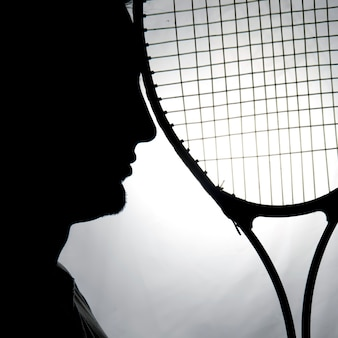 Silhouette du joueur de tennis