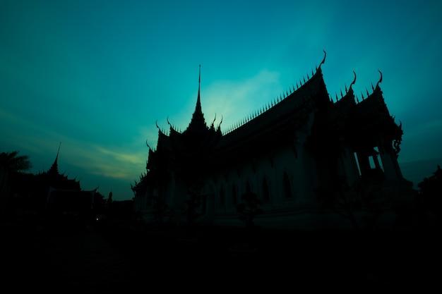 Silhouette du palais sanphet prasat