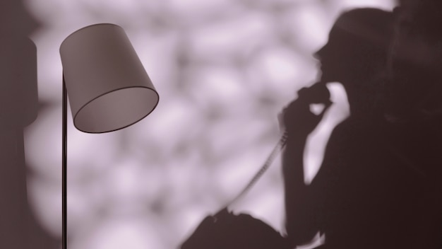 Silhouette de femme gracieuse se détendre à la maison