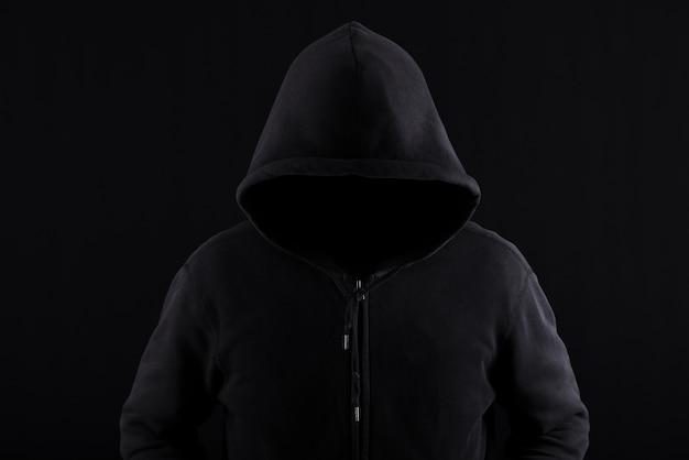 Silhouette de l'homme mystérieux