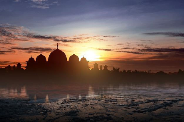 Silhouette, mosquée