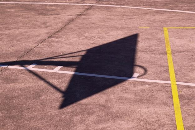 Silhouette ombre basket sport