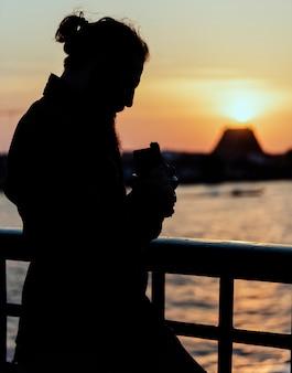 Silhouette d'un photographe