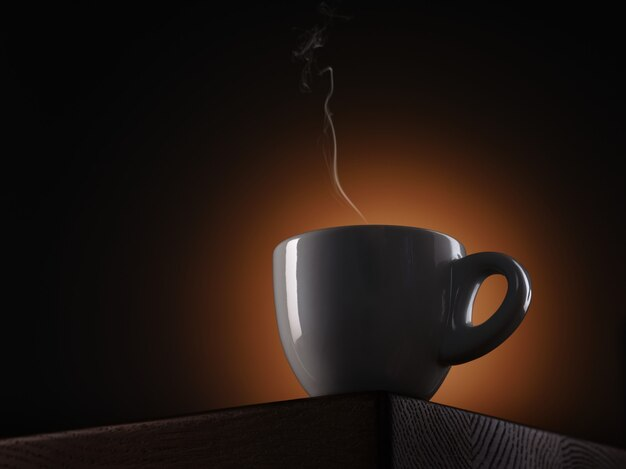 Silhouette d'une tasse à expresso blanche
