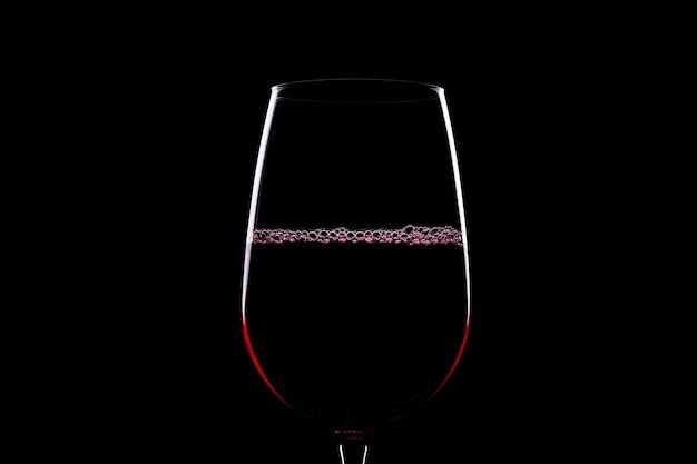 Silhouette de verre à vin