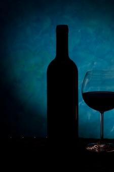 Silhouette de vin italien