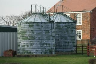 Des silos à grains