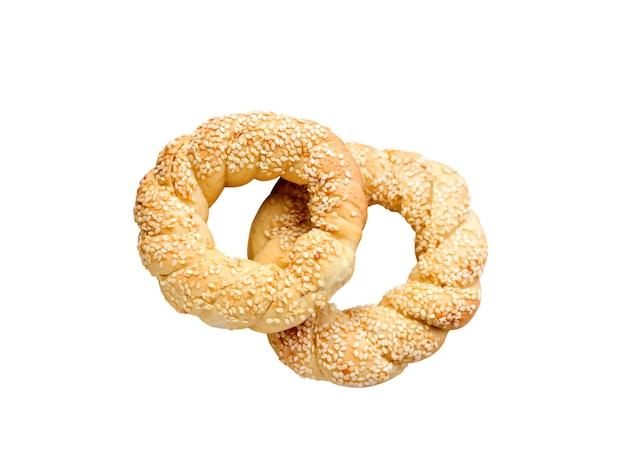 Simits - bagels turcs isolés