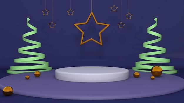 Simple podium marine avec étoile