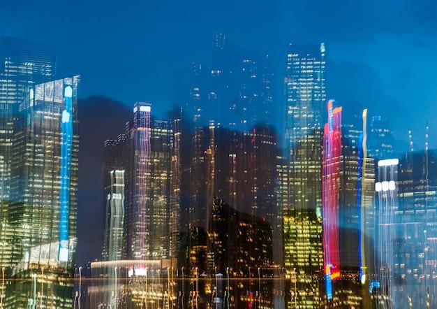 Singapour singapour bâtiment immeuble urbain gratte-ciel
