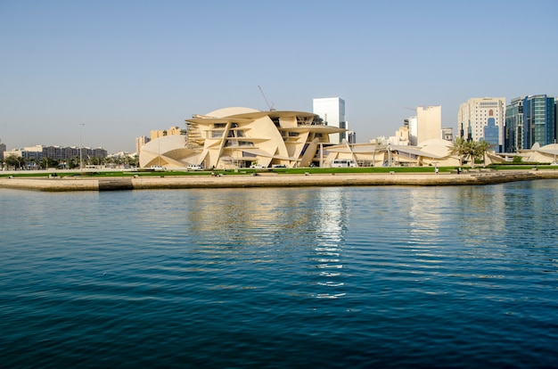 Site de construction du musée national du qatar à cornish