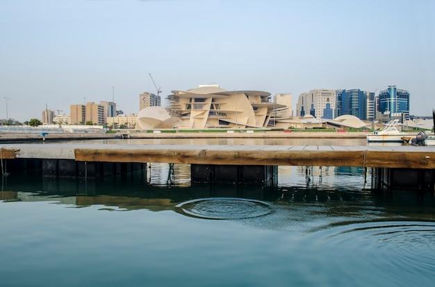 Site de construction du musée national du qatar à cornish
