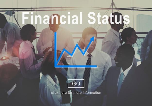 Situation financière budget concept de planification de la dette de crédit