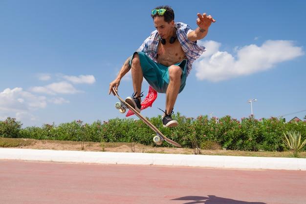 Skate à la plage