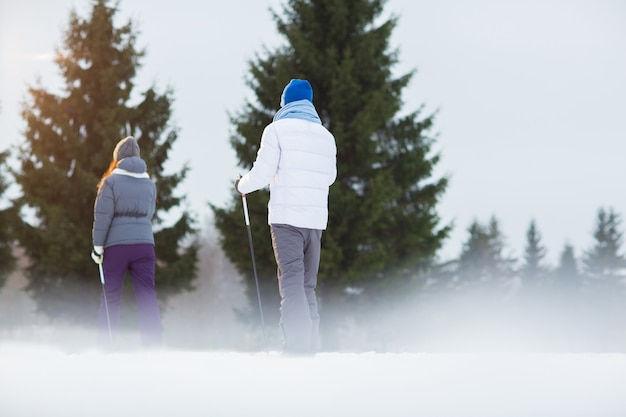 Ski en avant