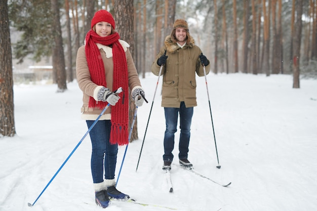 Ski de couple actif