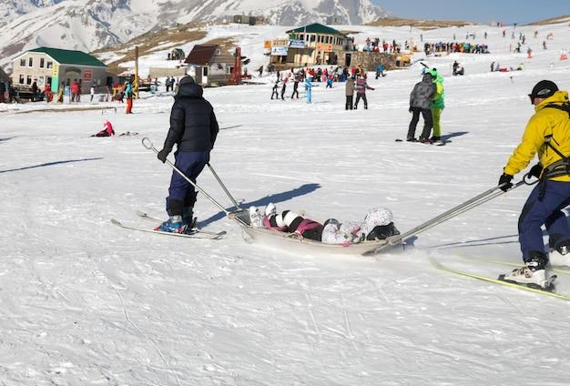 Skieur blessé