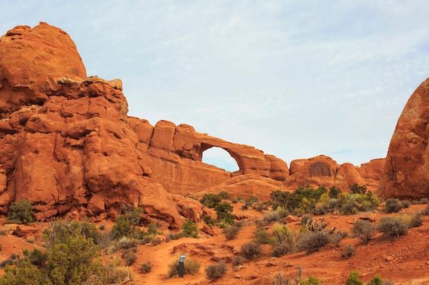 Skyline arch dans le parc national des arches. moab, utah,