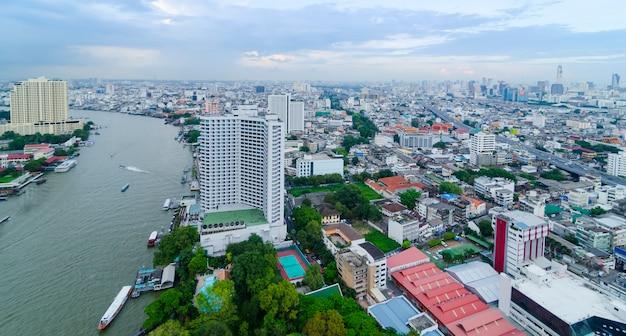 Skyline de bangkok, thaïlande