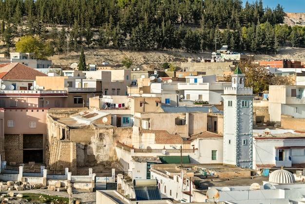 Skyline d'el kef, une ville du nord-ouest de la tunisie. afrique du nord