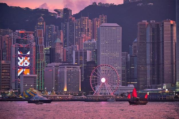 Skyline de hong kong. hong kong, chine