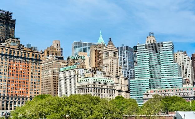 Skyline de manhattan à new york city