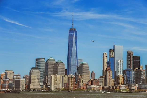 Skyline de manhattan, new york, états-unis.
