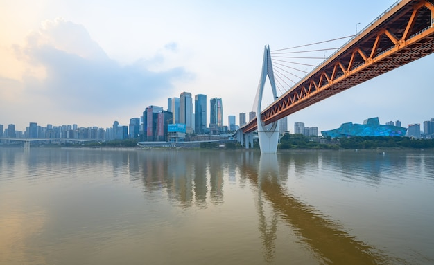 Skyline de la métropole moderne, chongqing, chine