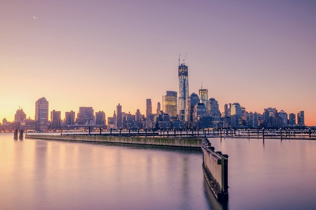 Skyline de la ville de new york, usa