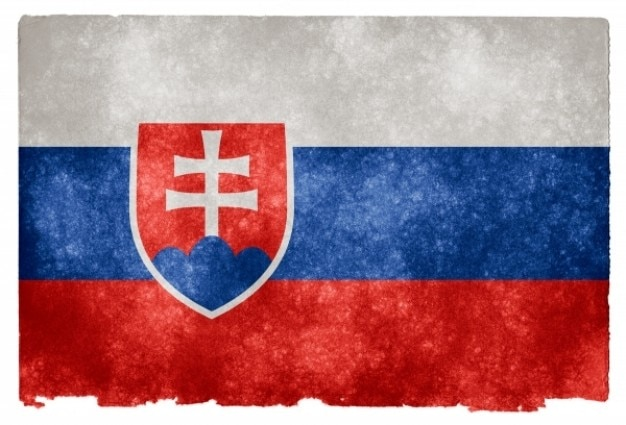 Slovaquie grunge flag