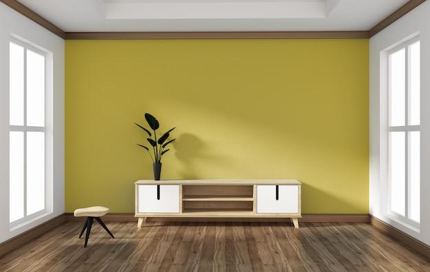 Smart tv dans la conception de la salle de style vide .3d rednering