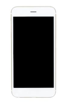 Smartphone isolé sur fond noir.