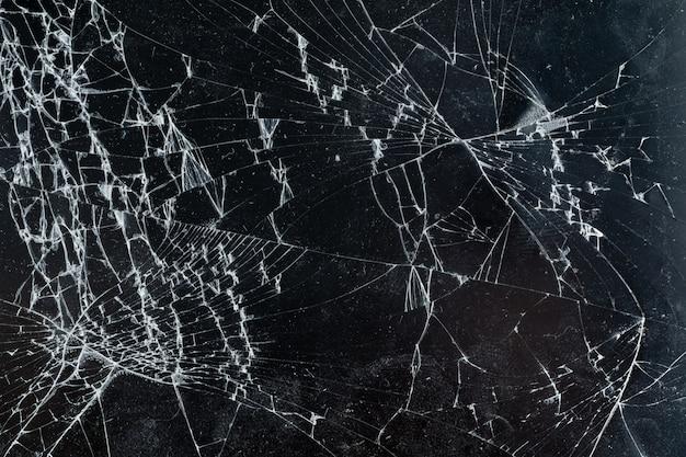 Smartphone mobile avec écran cassé se bouchent