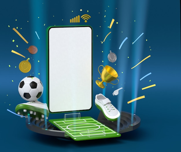 Smartphone avec objet de sport