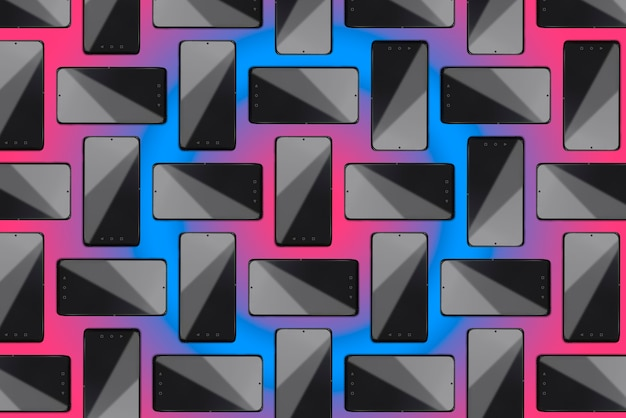 Smartphones sur fond pastel, black friday, concept cyber monday