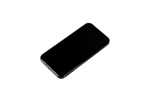 Smartphones téléphone mobile isolé fond blanc chemin de détourage