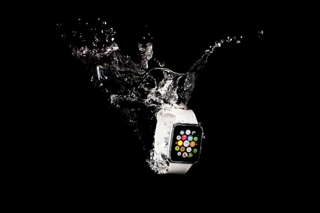Smartwatch immergée