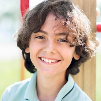 Smiley portrait petit garçon