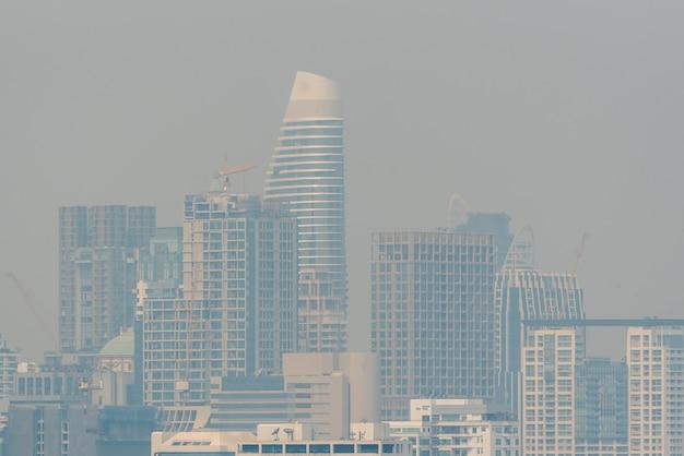 Smog pm2.5 poussière dépasse la valeur standard de bangkok