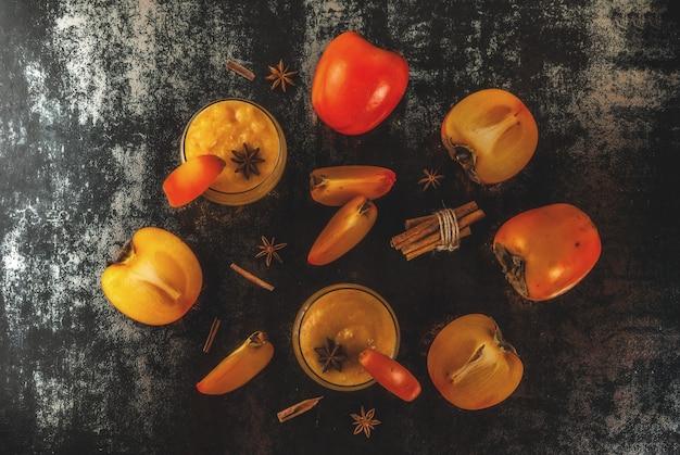 Smoothie aux fruits de kaki
