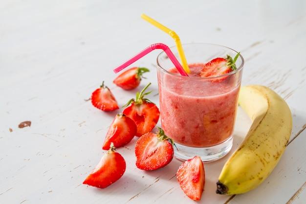 Smoothie banane fraise