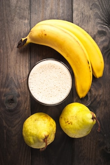Smoothie banane et poire