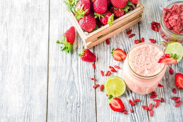 Smoothie fraise et goji