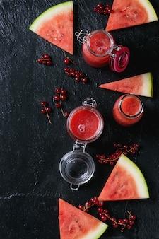 Smoothie melon d'eau et cassis
