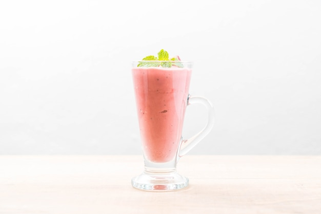 Smoothies aux fraises milkshake