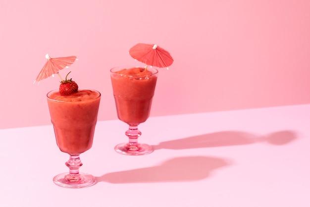Smoothies aux fraises