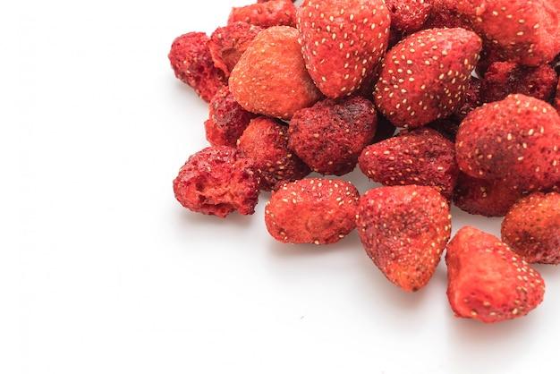 Snack de fraises séchées