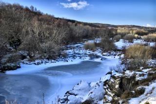 Snizort fleuve, l'île de skye - hiver